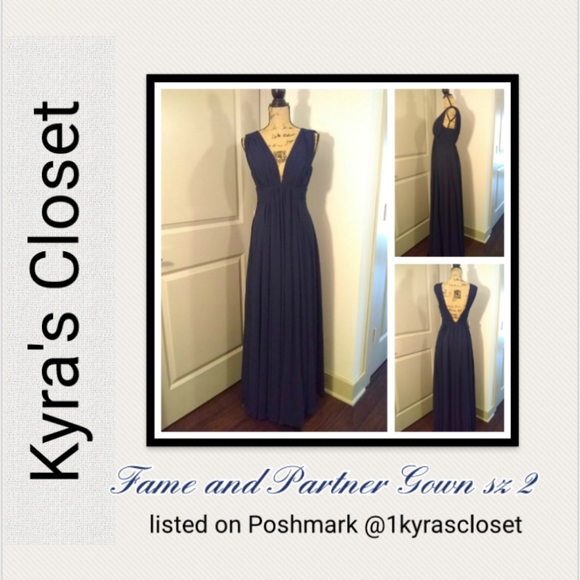 Fame and Partners Dresses & Skirts - Fame and Partner Gown sz 2 blue NWT